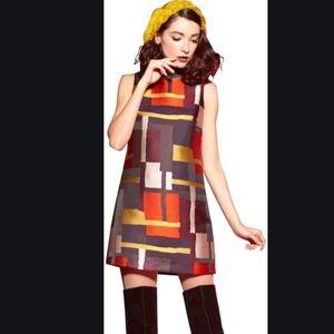 Alice + Olivia Clyde Geometric Print A-line Dress